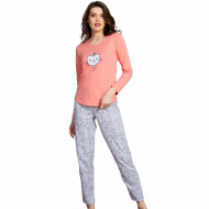 Pijamale Dama din Bumbac Vienetta Model 'Sweet Night'