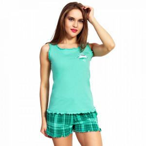 Pijamale Dama Vienetta, Bumbac 100%, 'Sleep All Day'