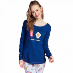 Pijamale Dama Vienetta Dream, 'Eggcellent - Better Togeter'