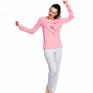 Pijamale Dama Vienetta Model 'Good Morning, Beautiful!' Pink