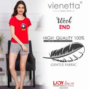 Pijamale Dama Vienetta 'WeekEND' Red