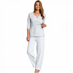 Pijamale Gravide si Alaptat Vienetta, 'Materna' Gray
