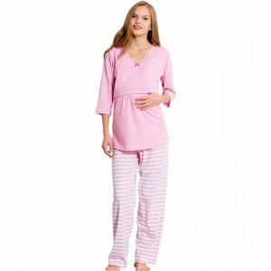 Pijamale Gravide si Alaptat Vienetta, 'Materna Pink'