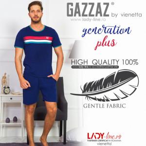 Pijamle Barbati Gazzaz by Vienetta, 'Generation Plus', Culoare Albastru