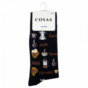 Sosete Clasice Colorate Unisex Cosas Boutique Socks Model Espresso Yourself