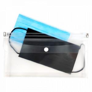 Suport cu 2 Compartimente cu Zip si Capsa pentru Masti Faciale Medicale