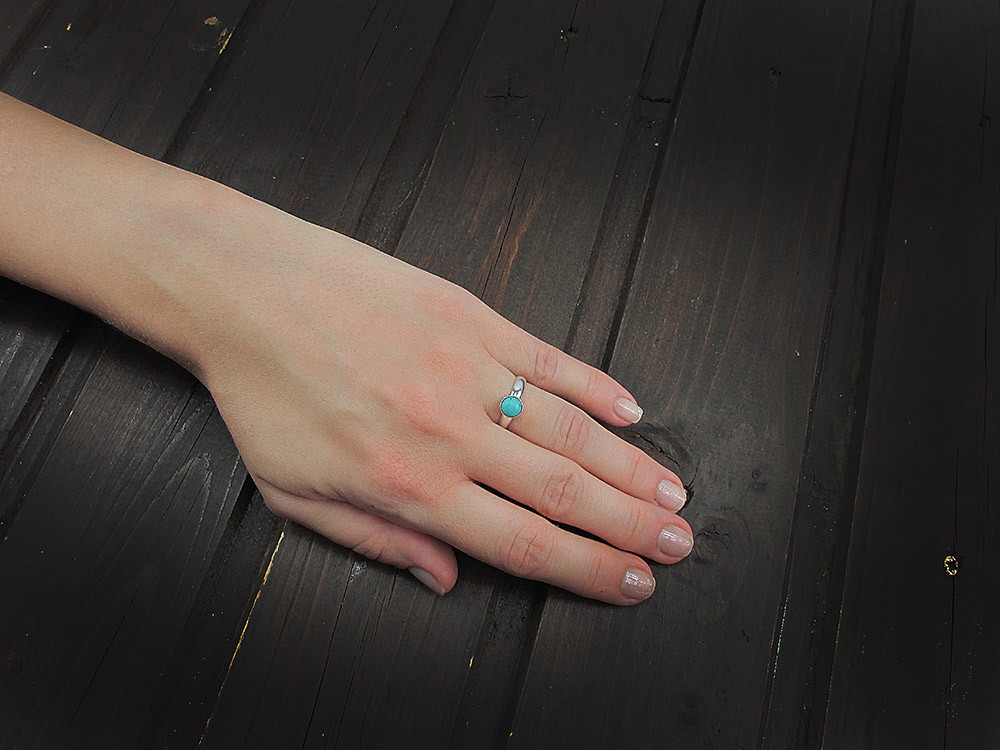 Inel argint reglabil cu turcoaz 6 MM