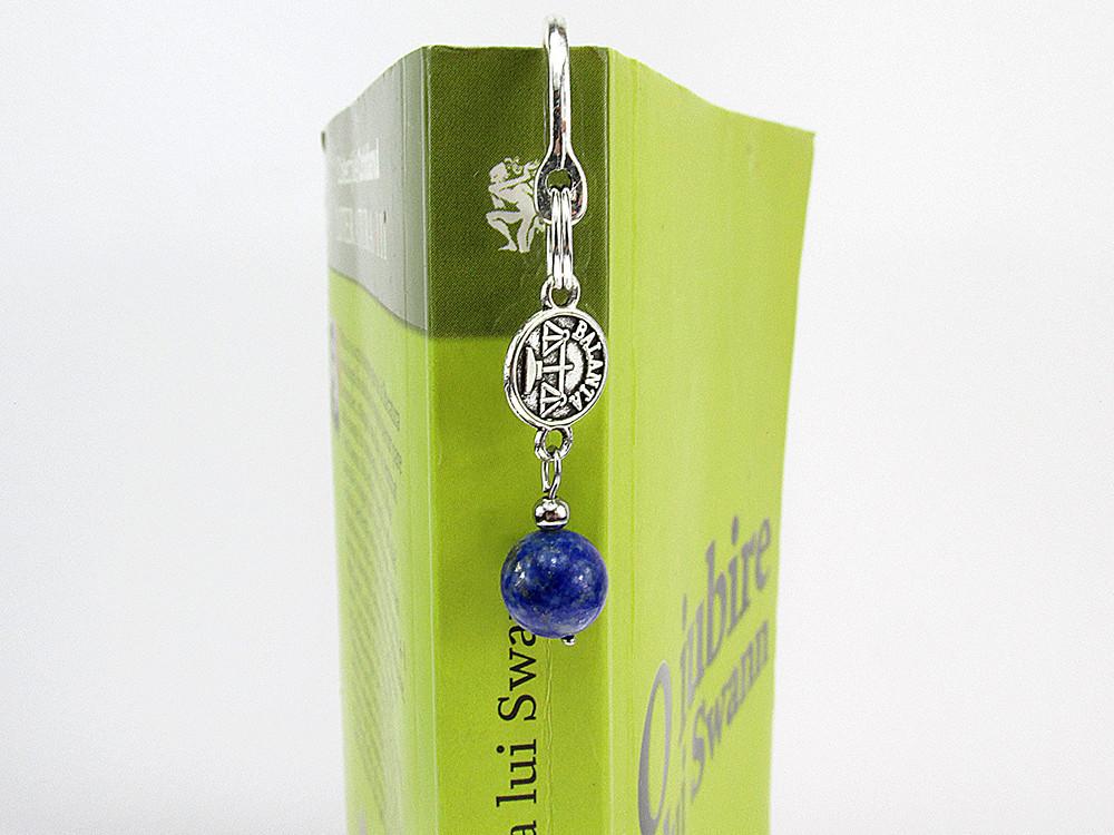 Semn de carte zodia Balanta cu lapis lazuli