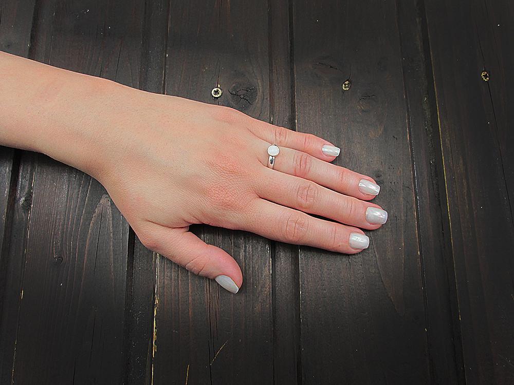 Inel argint reglabil cu jad alb natural 6 MM