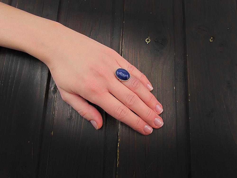 Inel argint reglabil cu lapis lazuli natural 18x13 MM