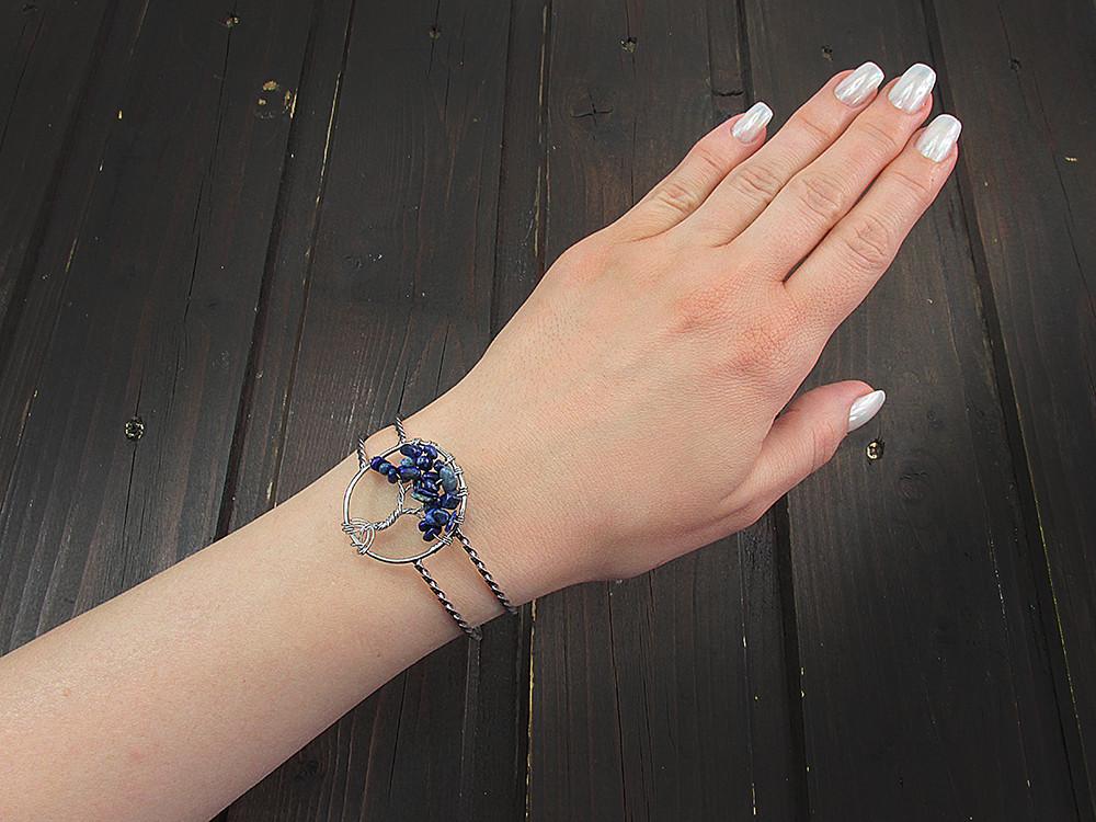 Bratara statement Copacul Vietii cu lapis lazuli