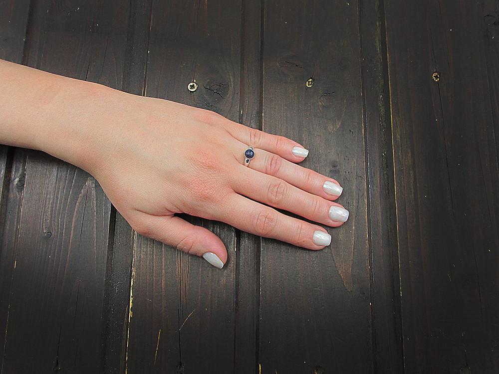 Inel argint reglabil cu lapis lazuli natural 6 MM