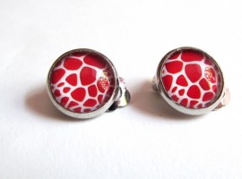 Cercei clips animal print A 12 MM