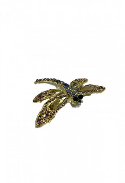 Broșa Libelula Auriu