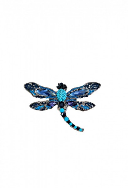 Broșa Libelula Turcoaz