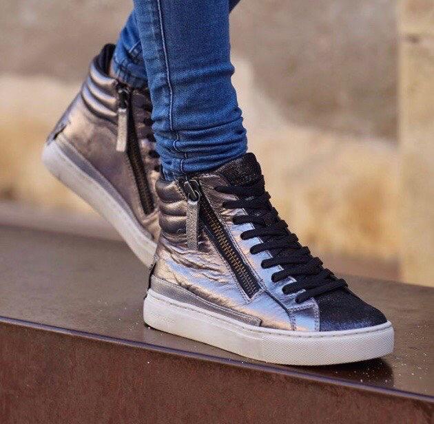 398ddd0310c94 CRIME LONDON sneakers alte donna laminate