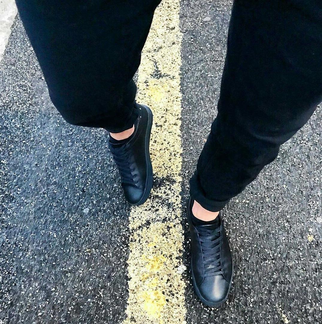 sneakers base nere uomo