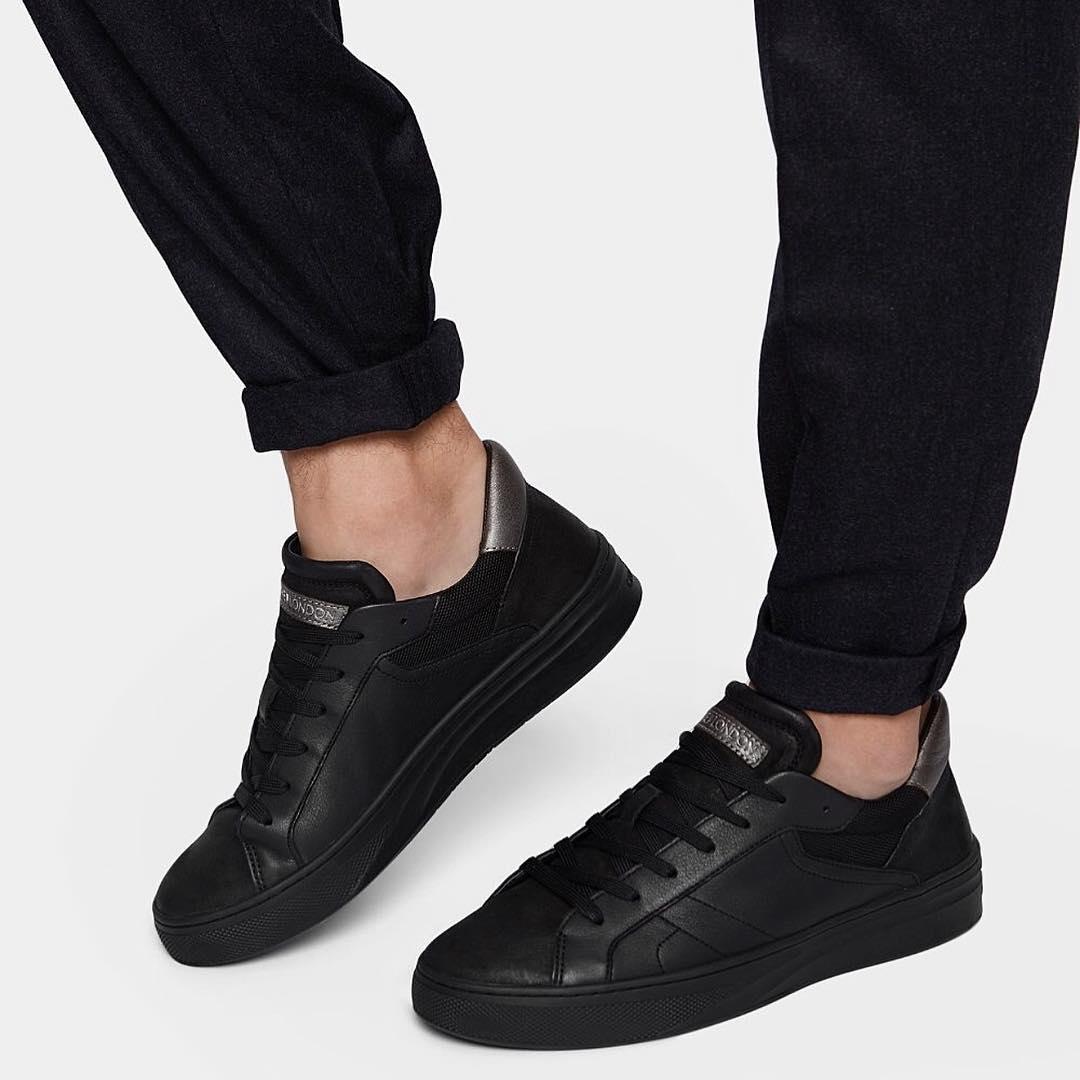 sneakers uomo total black