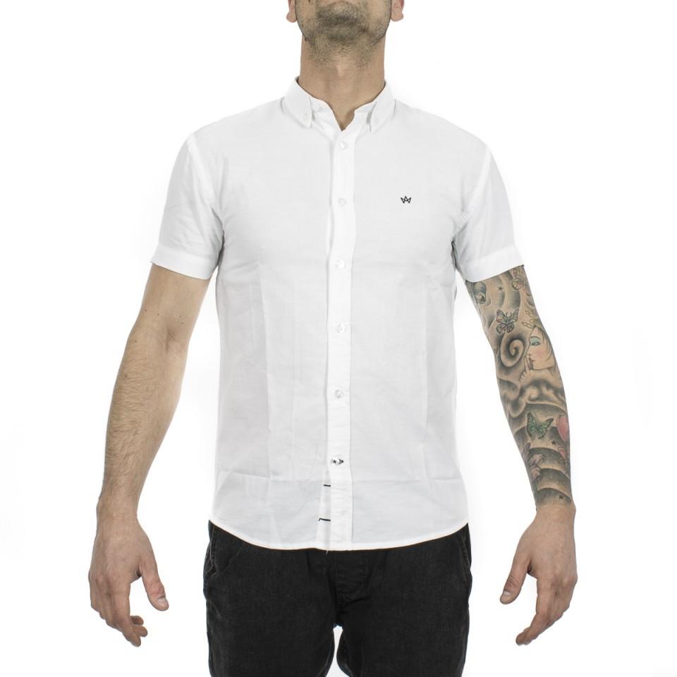 the best attitude e50bc cea93 Krowstadt camicia maniche corte bianca uomo
