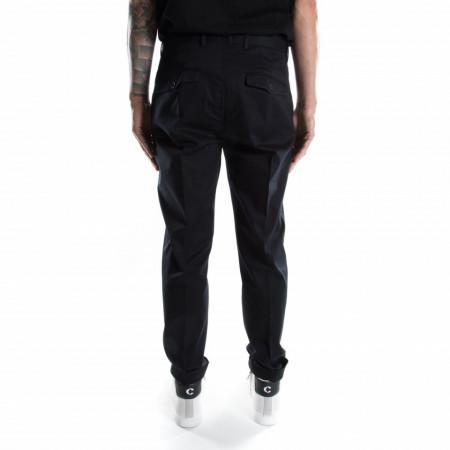 Outfit pantalone tessuto nero uomo
