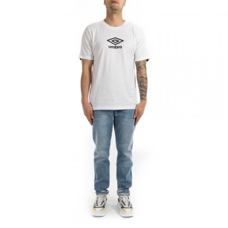 Umbro t shirt uomo girocollo bianca