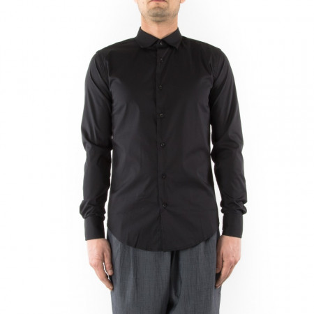 official photos 3de16 3251f Camicia slim fit uomo nera Outfit