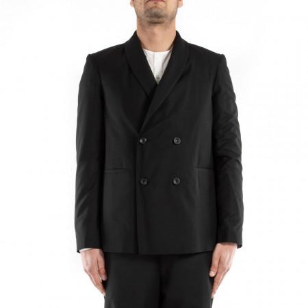 doppiopetto giacca nera uomo