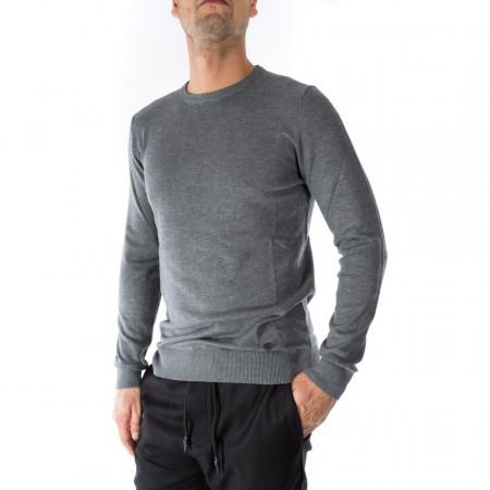 OUTFIT maglia in lana girocollo grigia
