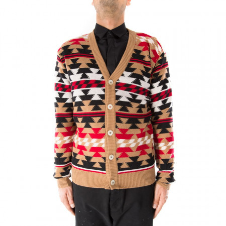IN THE BOX cardigan in lana fantasie geometriche