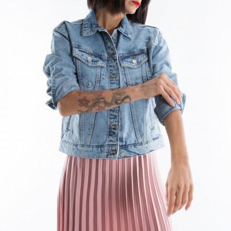 giubbotto di jeans donna chiaro