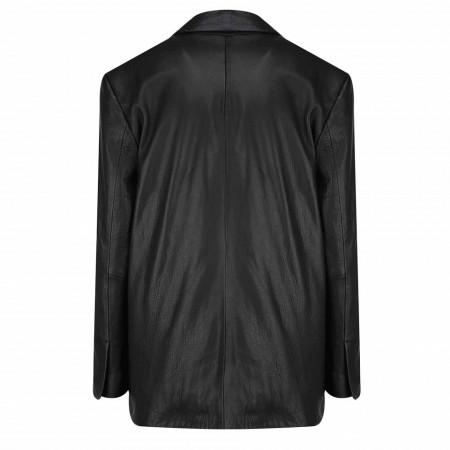 giacca-in-pelle-jijil-nera