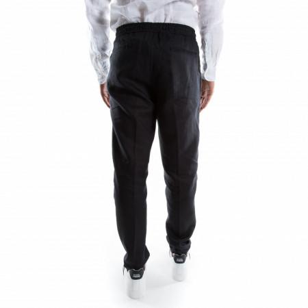 pantalone nero in lino elegante