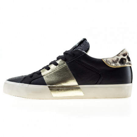Crime-London-sneakers-nere-basse-donna