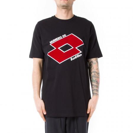 huge discount 05750 fa37b Numero 00 x lotto t-shirt nera uomo con logo