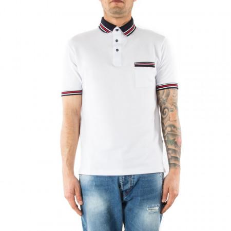 T shirt polo bianca uomo