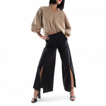pantaloni a palazzo estivi neri