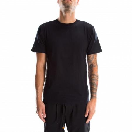 Moschino t-shirt nera stripe logate laterali
