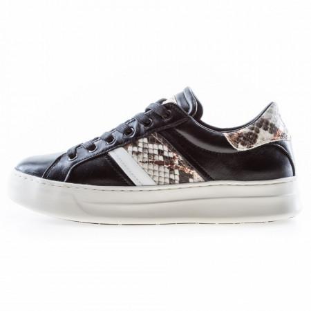 Crime-London-sneakers-basse-nere-in-pelle