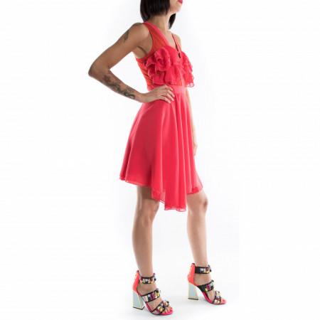 vestito corto rosso elegante estivo