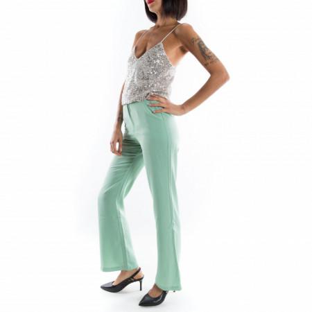 pantalone a palazzo verde tiffany