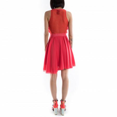 vestito corto rosso elegante da donna