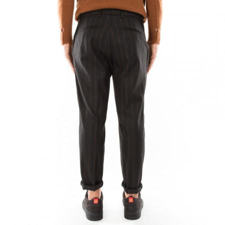 Marsem pantalone elegante nero gessato