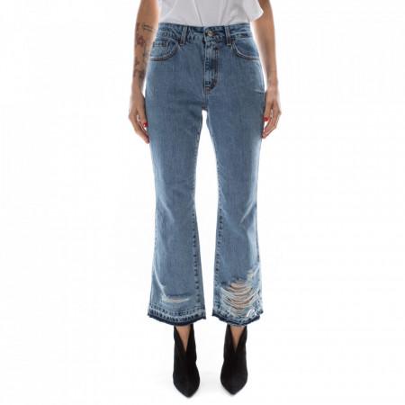 Jijil-jeans-strappato-a-zampa