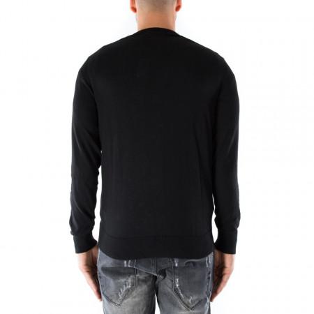 OUTFIT cardigan classico in lana nero