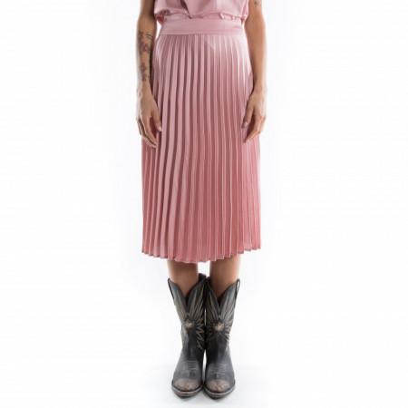 Rut&Circle gonna lunga plissè rosa