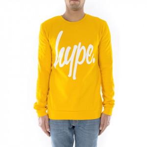 Hype felpa gialla girocollo