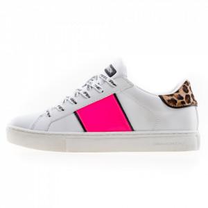 Crime London woman white low sneakers