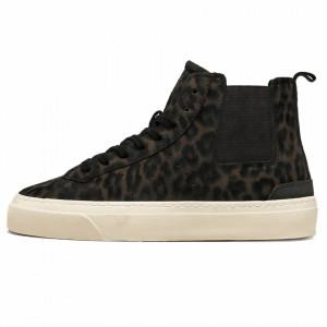 Date sonica leopard high sneakers