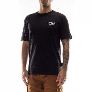 Gaelle t-shirt uomo nera con patch
