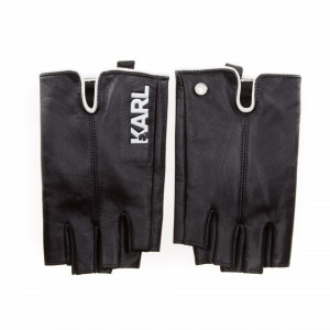 Karl Lagerfeld guanti neri mezze dita